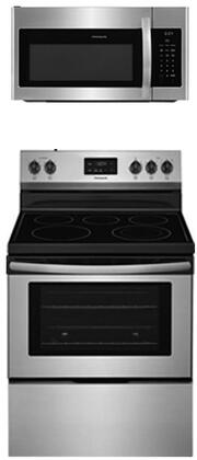 2-Piece Kitchen Package with FFEF3052TS 30 inch  Freestanding Electric Range and FFMV1645TS 30 inch  Over the Range Microwave Oven in Stainless