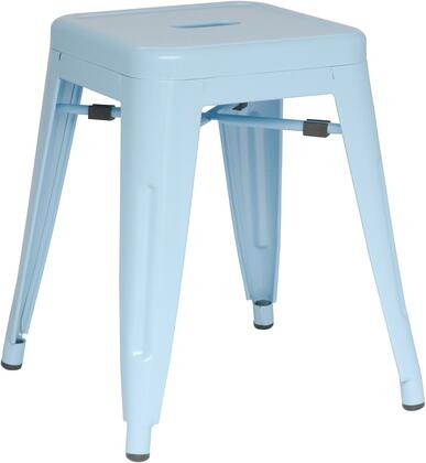 8018-SC-BLU Galvanized Steel Side Chair Finish in Sky