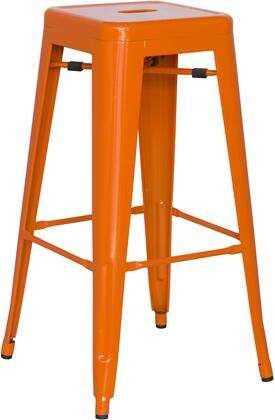 8015-BS-ORG 30 Galvanized Steel Bar Stool in