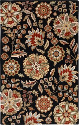 Athena Collection ATH5017-6SQ Square 6' Area Rug  Hand Tufted with Wool Material in Black and Red