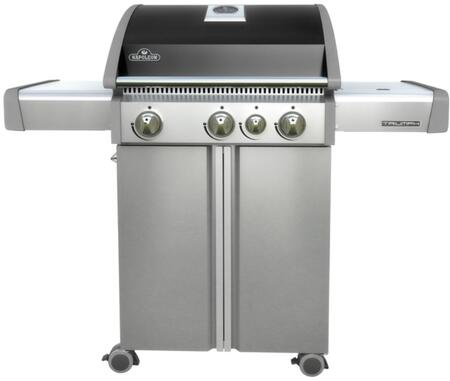 "T410SBPK 51"" Triumph 410 Series Freestanding Liquid Propane Grill with 3 Stainless Steel Burners  Range Side Burner  550 sq. in. Cooking Surface  Accu-probe"
