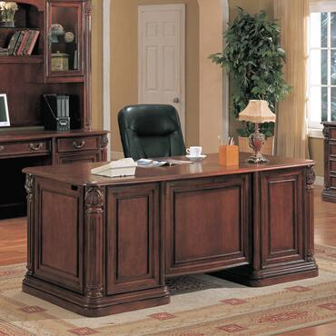 TC6660D Tucson Wood Executive Desk in Cherry