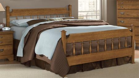 Creek Side Collection 387350-3-971500 Full Size Spindle Bed with Spindle Headboard & Footboard and Metal Slat-less Rails in Autumn