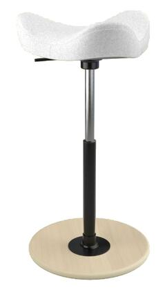 MOVE 2600 DINIMICA 2815 NAT HI BLK 26 inch  - 34 inch  Sit-Stand Chair with Dinimica Upholstery  2815 Color Code  Natural Ash Base  High Lift Height and Black Gas