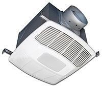 Air King White 120 CFM Dual Speed, Motion Sensing 0.3 Sone Ceiling Exhaust Bath Fan with LED Light, ENERGY STAR