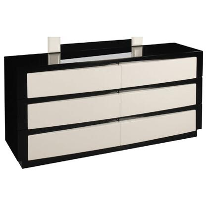 Sila Dresser with 6 Drawers in Glossy