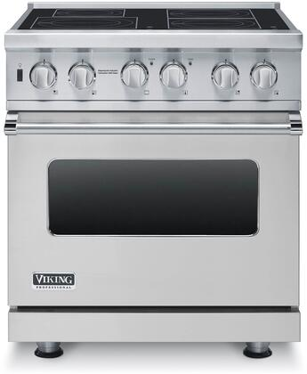 """Professional 5 Series VISC5304BSS 30"""" Electric Induction Range with MagneQuick Induction Elements Vari-Speed Dual Flow Convection Gourmet-Glo Infrared"""