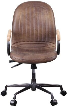Acis Collection 92559 Executive Office Chair with 360 Degrees Swivel Seat  5-Star Base  Adjustable Lift Height  Foam filled Cushion and Top Grain Leather