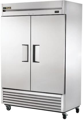 T-49-HC 55 inch  2 Section Reach-In Solid Door Refrigerator with 6 PVC Coated Shelves  Hydrocarbon Refrigerant  in Stainless