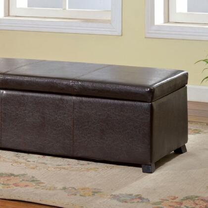 Fallon CM-BN6197 Storage Ottoman with Contemporary Style  Storage Area  Padded Leatherette Seat  Solid Wood and Others in
