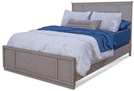 Provo Youth 7300-46PAN Full Bed with Distressed Detailing  Molding Details and Veneer Construction in Driftwood
