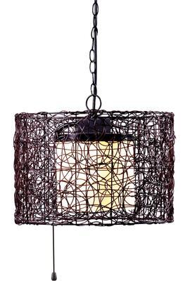 93393BRZ Tanglewood 1Lt Outdoor Pendant in Bronze