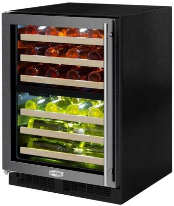 ML24WDG3LB 24 inch  Marvel High-Efficiency Dual Zone Wine Refrigerator with Dynamic Cooling Technology  Vibration Neutralization System  Thermal Efficient Cabinet