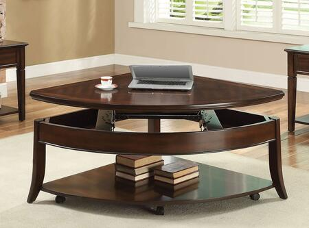 Keenan Collection 80548 40 inch  Coffee Table with Lift Top  Casters and Bottom Shelf in Walnut