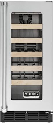 """VWCI5150GRSS 15"""" Professional Undercounter Wine Cooler with 24 Bottle Capacity  Forced Air Cooling  Electronic Controls  Full Extension Adjustable Shelving and"""