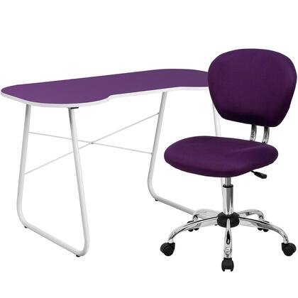 NAN-13-GG Purple Computer Desk and Mesh