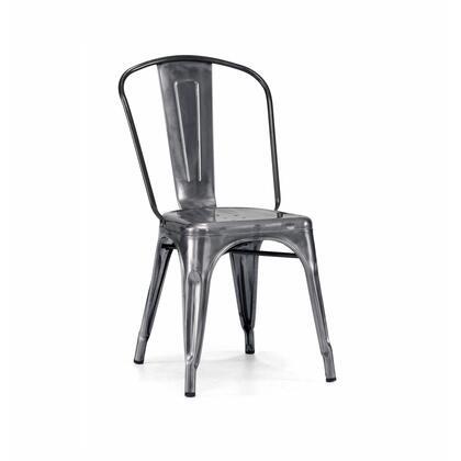 LS-9000-2-DGUN Dreux Dark Gunmetal Steel Stackable Side Chair (Set Of