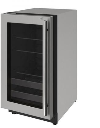 U-2218BEVS-15A 18 inch  2000 Series Beverage Center with 3.4 cu. ft. Capacity  Convection Cooling System  Black Interior with LED Lighting  2 Wine Racks  in