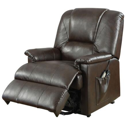 """Reseda Collection 10652 20"""""""" Recliner with 8 Motors Massage Function  Power Metal Lift  Power Controller  Lower Backrest Vibrating Mechanism and Bycast PU"""" 263382"""