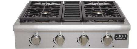 Kucht KRT3003U Professional 30 Natural Gas Range-Top with Sealed Burners in Stainless Steel