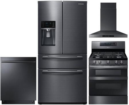 4 Piece Kitchen Appliance Package with RF25HMEDBSG 33