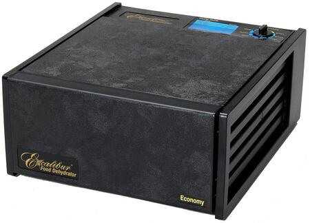 2500ECB Economy Series Dehydrator in Black with 5 Trays  8 Sq. Ft. of Drying Area  Adjustable Thermostat  and 5 Year Limited