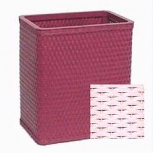 S426TR Chelsea Collection Decorator Color Square Wicker Wastebasket in Tea