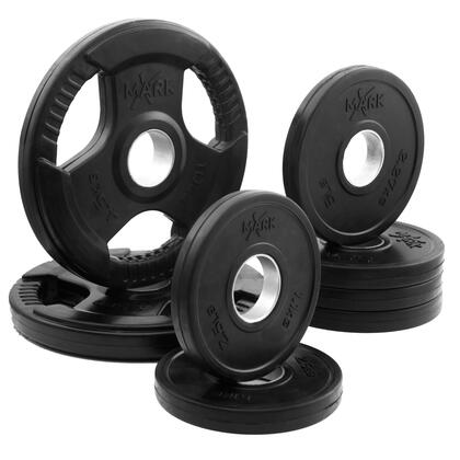 XM-3377-BAL-45 XMark Rubber Coated Tri-grip Olympic Plate Weight