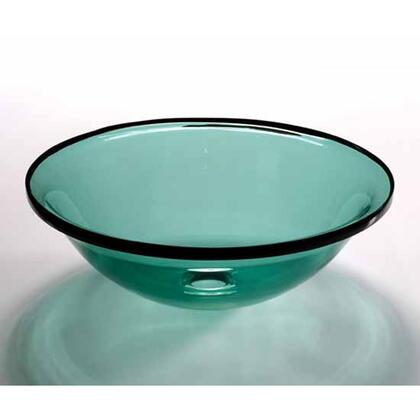 V244 Wells V244 17.5 inch Sheer Color Persian Green Glass Vessel