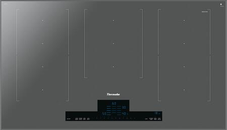 CIT367TM 36 inch  Induction Cooktop with Three Extra Liberty  Heat Shift  ModeMode  and Illuminated Touch Control Panel  in Silver Mirrored