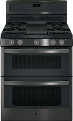 GE Profile PGB960BEJTS 30 Freestanding Convection Gas Range with 6.8 cu. ft. Capacity in Black Stainless Steel