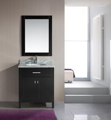 DEC076E London 30 inch  Single Sink Vanity Set in
