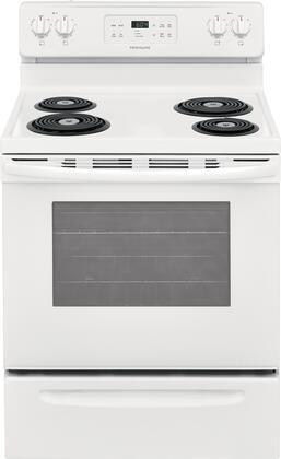 Frigidaire FFEF3016UW 30 Inch Freestanding Electric Range with 4 Coil Elements, 5.3 cu. ft. Primary Oven Capacity,in White