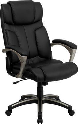 BT-9875H-GG High Back Folding Black Leather Executive Office