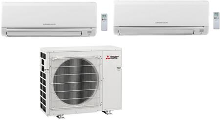 Dual Zone Mini Split Air Conditioner System with 36000 BTU Cooling Capacity  Two 18K BTU Indoor Units  and Outdoor 864767