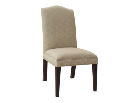 300 Series 300-350075 41 inch  Casual-Style Dining Room Muse Linen Chair with Tapered Legs  Piped Stitching and Fabric Upholstery in