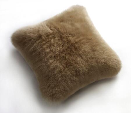 Auskin CLS35F-TP 14 inch  Square Sheepskin Wool Cushion in