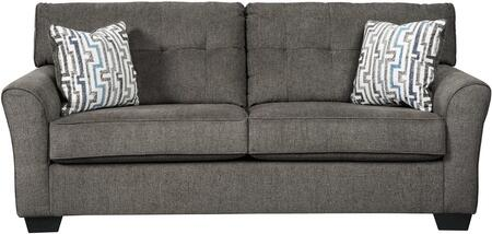 Alsen Collection 7390138 79 inch  Sofa with Fabric Upholstery  Tufted Back  Pipe Stitching Details and Flared Armrests in