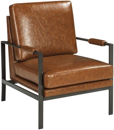 Peacemaker A3000029 Accent Chair with Stitched Detailing  Metal Frame Construction and Faux Leather Upholstery in