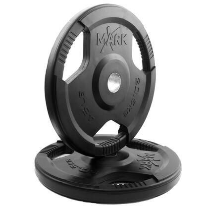 XM-3377-45-P XMark Rubber Coated Tri-grip Olympic Plate Weight