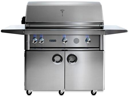 "SMART42F-LP 42"" Professional Series Freestanding Liquid Propane Smart Grill on Cart with 3 Trident ProSear2 Infrared Burners  1200 sq. in. Cooking Surface"