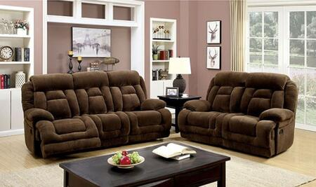 Grenville Collection CM6010-SL-PM 2-Piece Living Room Set with Motion Sofa and Motion Loveseat in