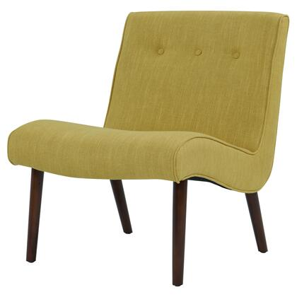 Alexis Collection 353031-PO Chair with Piped Stitching  Button Tufted Detailing and Fabric Upholstery in