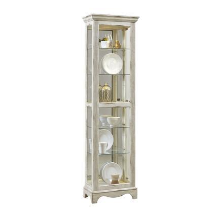 P021595 Weathered White Display Cabinet