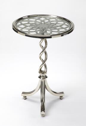 1169260 Modern Expressions Accent Table With Tripod Pedestal And Glass