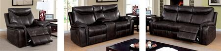 Karlee Collection CM6988-SLCR 3-Piece Living Room Set with Motion Sofa  Motion Loveseat and Recliner in Dark