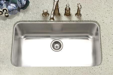 STL-3600-1 Eston Series Undermount Stainless Steel Large Single Bowl Kitchen Sink  18