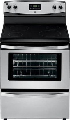 93013 30 Freestanding Electric Range with 4 Elements  4.9 cu. ft. Oven Capacity  Storage Drawer and Porcelain Cooktop in Stainless