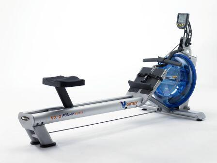 VX-2 Commercial Vortex-2 Fluid Rower with Interactive Performance Monitor and 16 Level Patented Variable Fluid