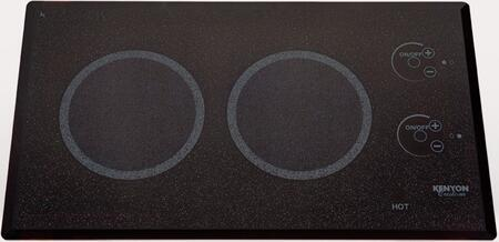 B41576L  24 inch  Lite-Touch Q Series 240 Volt Landscape Electric Cooktop with 2 Elements  Ceramic Glass Smooth Surface  Beveled-Edge Glass  Auto Shut Off   inch On inch  and